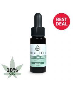 Vital Herb Full Spectrum Hemp CBD Oil - 1000mg 10% (10ml) Natural Flavour