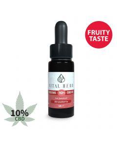 Vital Herb Full Spectrum Hemp CBD Oil - 1000mg 10% (10ml) Strawberry Flavour