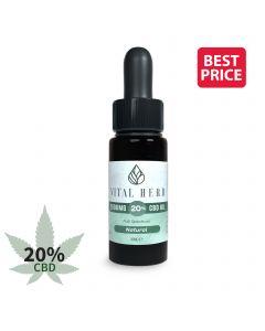 Vital Herb Full Spectrum Hemp CBD Oil - 2000mg 20% (10ml) Natural Flavour