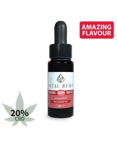 Vital Herb Full Spectrum Hemp CBD Oil - 2000mg 20% (10ml) Strawberry Flavour
