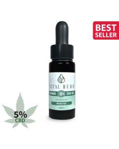 Vital Herb Full Spectrum Hemp CBD Oil - 500mg 5% (10ml) Natural Flavour