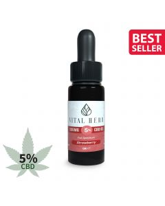 Vital Herb Full Spectrum Hemp CBD Oil - 500mg 5% (10ml) Strawberry Flavour