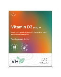VH Vitamin D3 3000iu 90 Vegan Capsules