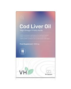 VH Cod Liver Oil 1000mg 90  Softgel Capsules