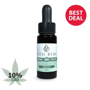 Vital Herb Full Spectrum Hemp CBD Oil - 1000mg 10% (10ml) Natural Flavour