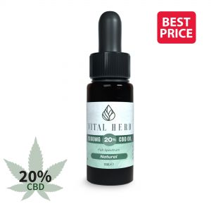 Vital Herb Full Spectrum Hemp CBD Oil - 2000mg 20% (10ml) Natural Flavour